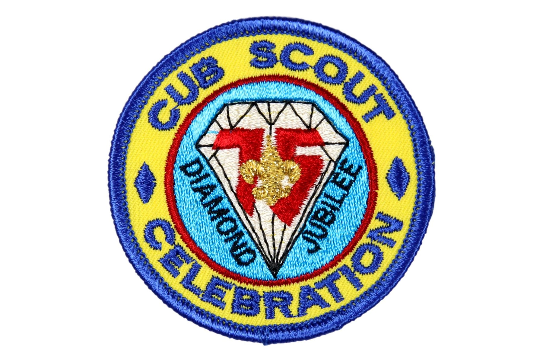 Cub Scout Celebration Patch Plastic Back