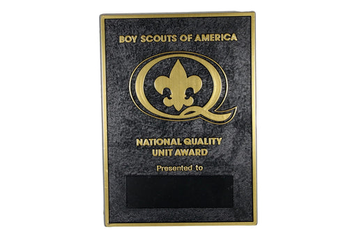 1986 Quality Unit Plaque
