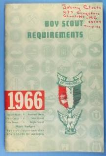 Boy Scout Requirements Book 1966