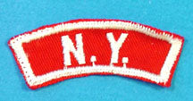 New York Red and White State Strip