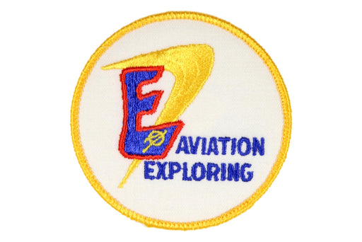 Aviation Exploring Patch Circle V Symbol Gauze Back