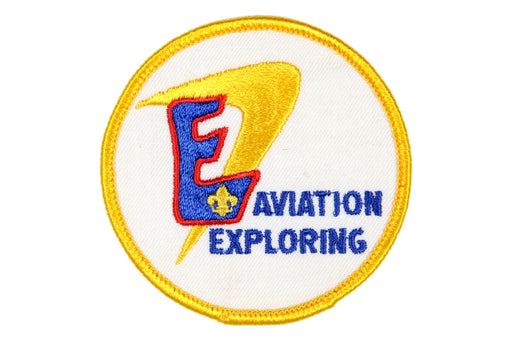 Aviation Exploring Patch Fleur-di-leis Symbol Plastic/Gauze Back