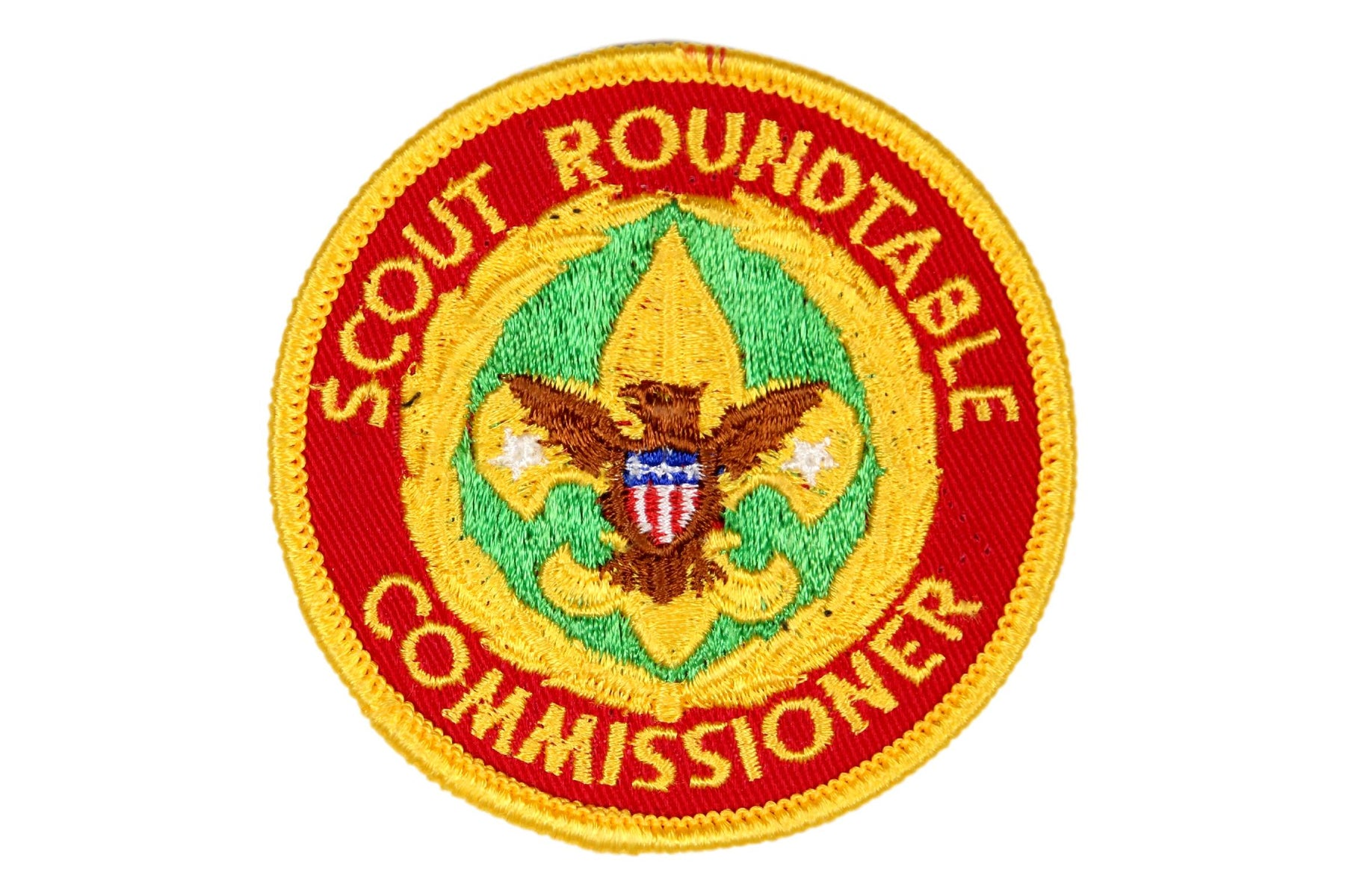 Scout Roundtable Commissioner Patch Gauze Back