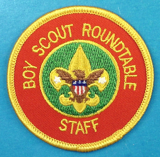 Boy Scout Roundtable Staff Patch No Wreath