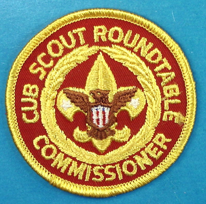 Cub Scout Roundtable Commissioner Patch Red Center