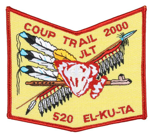 Lodge  520 Patch 2000 Coup Trail Red