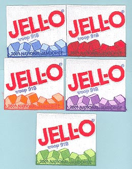 2001 NJ Great Salt Lake Jello Patrol Patch Set w/#