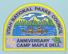 2004 Utah National Parks Council Camper Patch Lodge 508 Anniversary