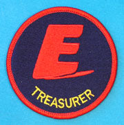 Treasurer Patch on Blue Background