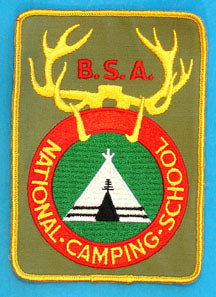 National Camping School Jacket Patch Khaki