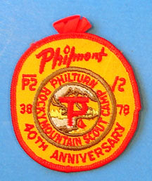 1978 Philmont 40th Anniversary Patch