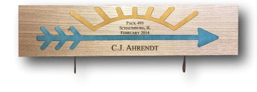 Arrow of Light Plaque - Rectangle Blue & Gold
