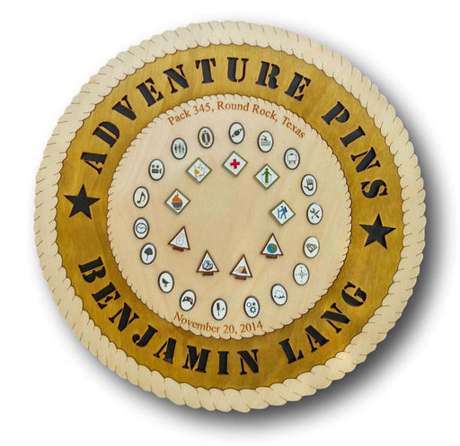 Adventure Pin Plaque - Circle