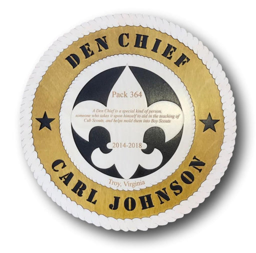 Den Chief Plaque - Circle