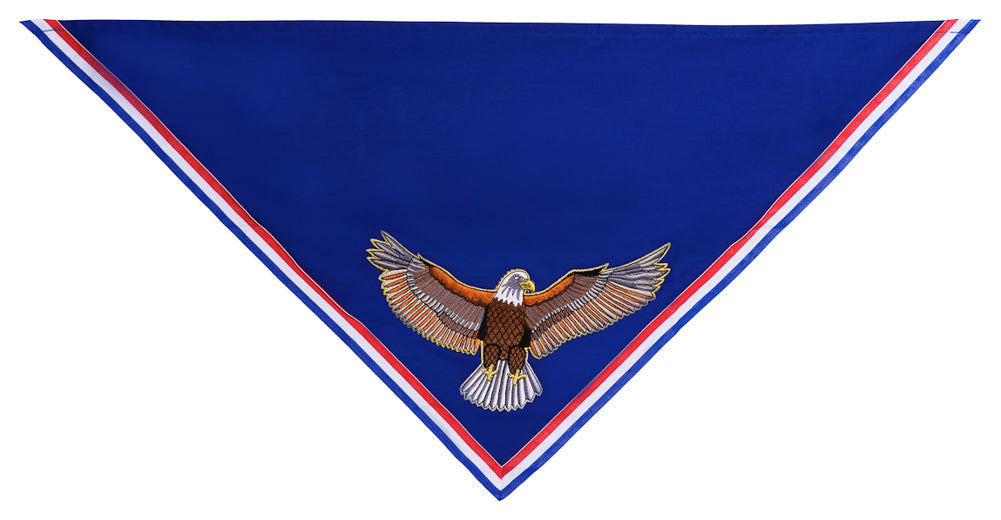 Custom Embroidered Neckerchief for Eagle Scouts - Appliqued Eagle