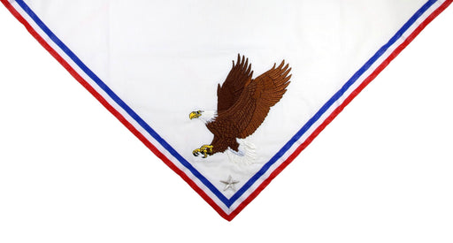 Custom Embroidered Neckerchief for Eagle Scout Mothers - Embroidered Eagle