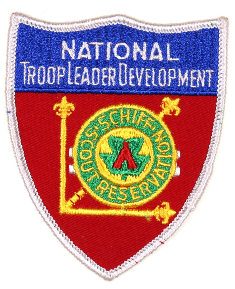 Schiff Scout Reservation Patch National Troop Leader Development