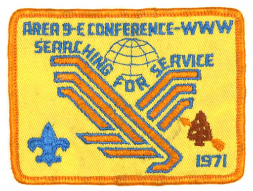 1971 Area 9E Conference Patch
