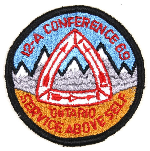 1969 Area 12A Conference Patch