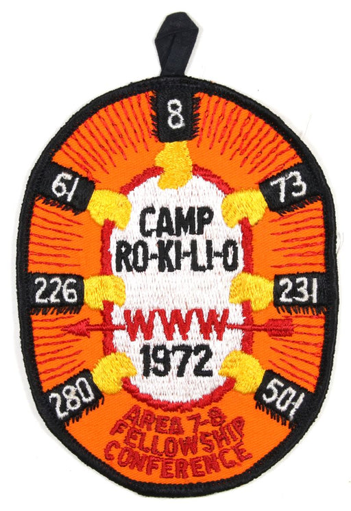 1972 Area 7 & 8 Conference Patch