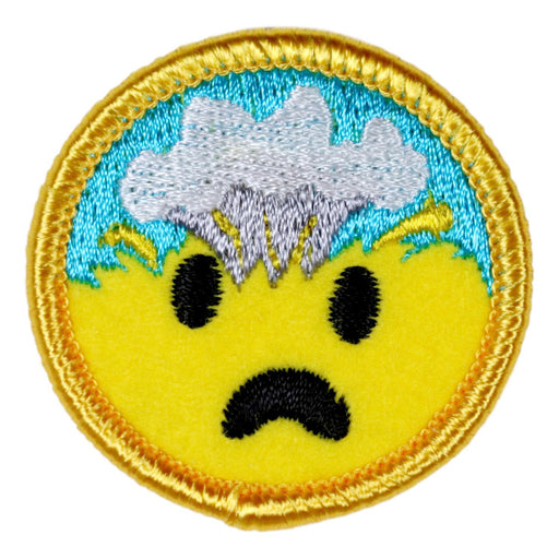 Mind Blown Merit Badge Emoji