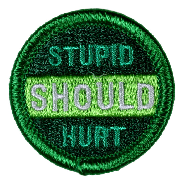 Stupid Should Hurt Merit Badge