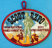2011 Scout Expo Patch Maroon Border Utah National Parks Council
