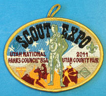 2011 Scout Expo Patch Gold Border Utah National Parks Council