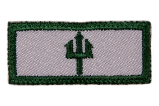 Sea Badge Knot One Trident Green on Gray