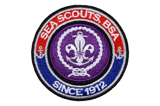 World Crest Ring Sea Scouts Since 1912 Blue with World Crest
