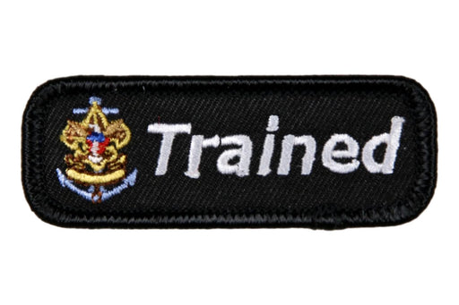 Trained Patch Sea Scout White on Black