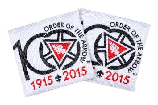 100th Anniversary of the Order of the Arrow Shoulder Loops.