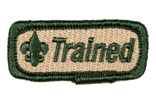 "Trained Patch 2"" Green on Khaki"