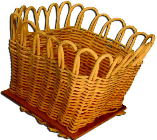 "4"" Square Round Reed Basket"