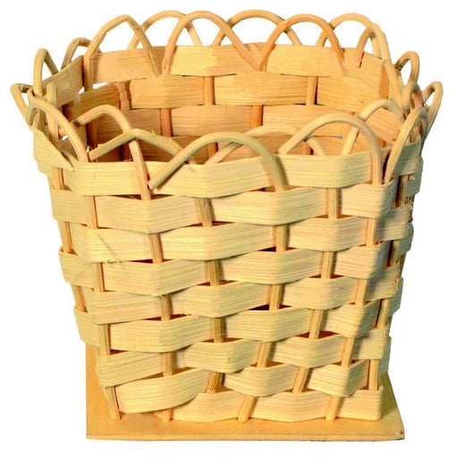 "4"" Square Flat Reed Basket"