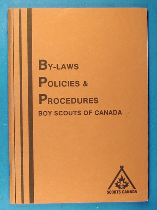 By-Laws Boy Scouts of Canada Book