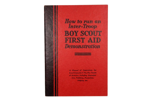 Boy Scout First Aid Demonstration Booklet