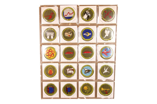 !1960s Rolled Edge Twill and Cloth Back Merit Badge Collection 126 MBs