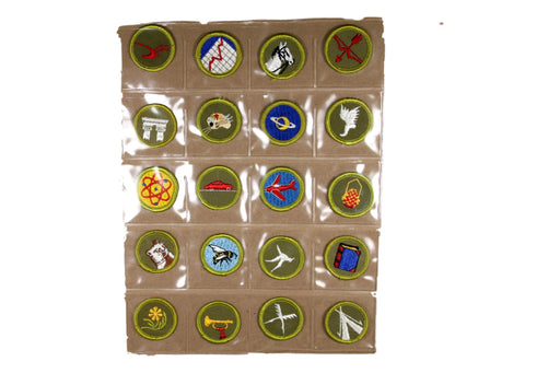 !1960s Rolled Edge Twill and Cloth Back Merit Badge Collection 120 MBs