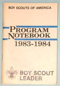 1983-84 Boy Scout Leader Notebook