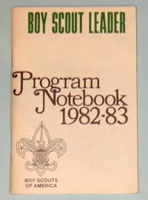 1982-83 Boy Scout Leader Notebook