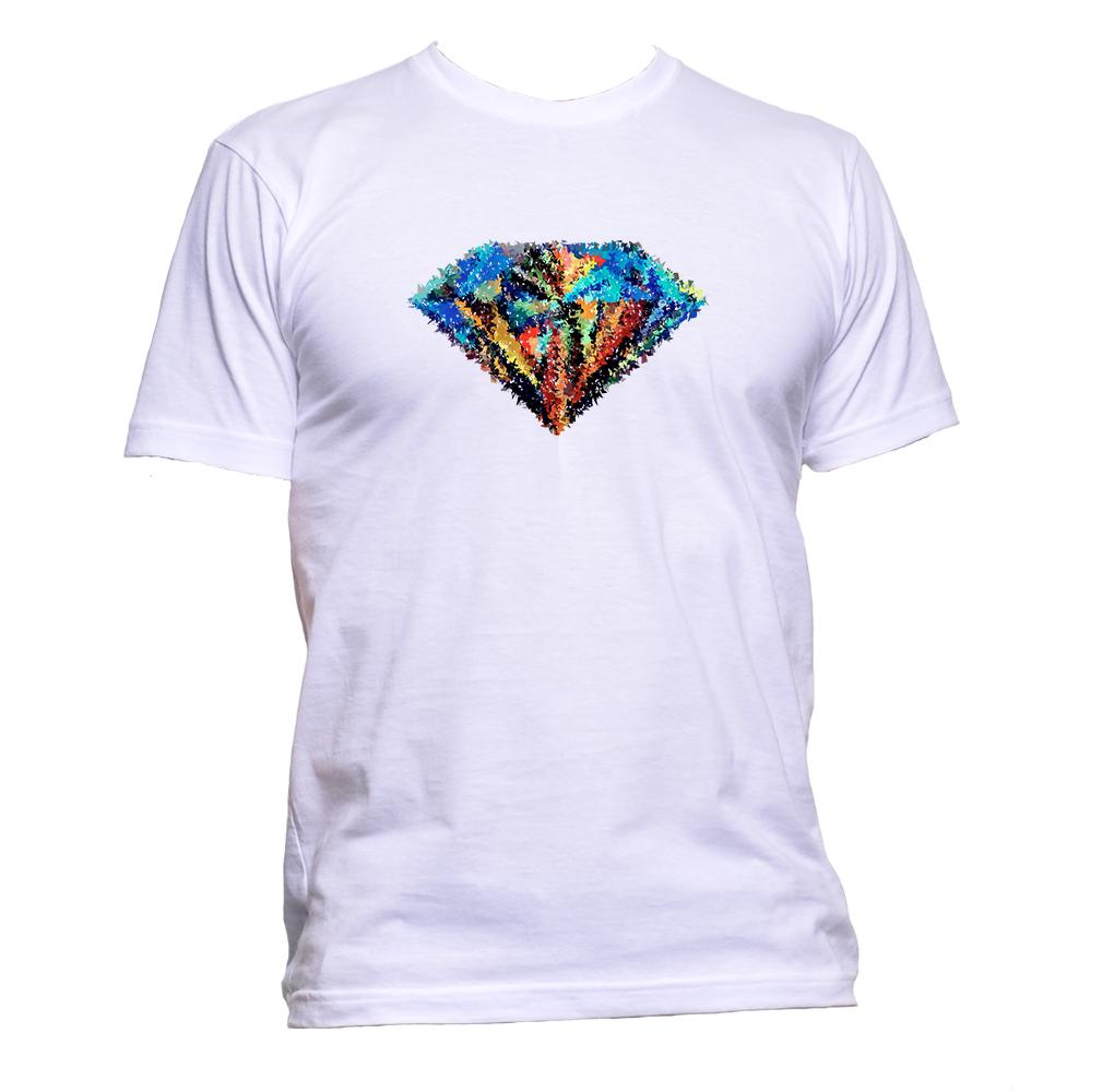 AppleWormDesign • Coloured Diamond gift - Men's T-Shirt •