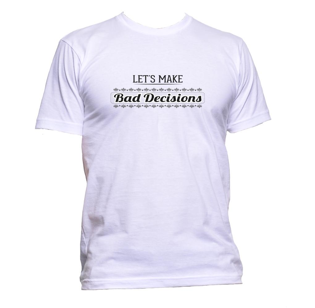 AppleWormDesign • Let's Make Bad Decisions gift - Men's T-Shirt •
