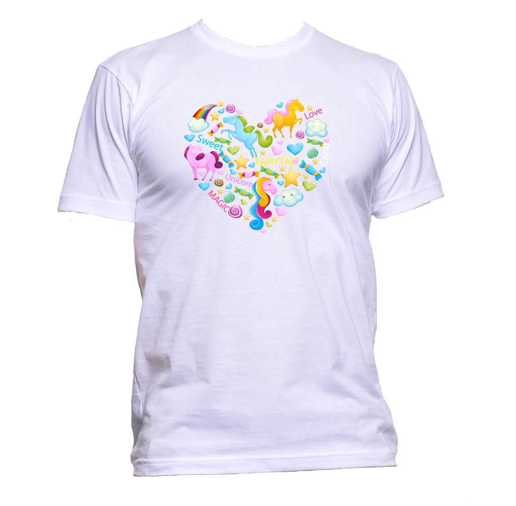 AppleWormDesign • Cute Heart Pony Cloud gift - Men's T-Shirt •
