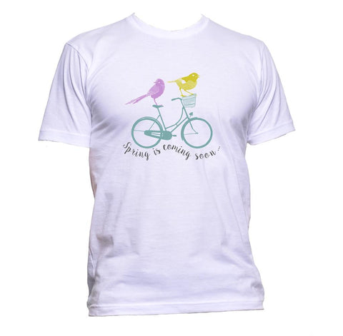 AppleWormDesign • Spring Is Coming Soon gift - Men's T-Shirt •