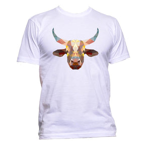 AppleWormDesign • Geometric Coloured Buffalo Head gift - Men's T-Shirt •