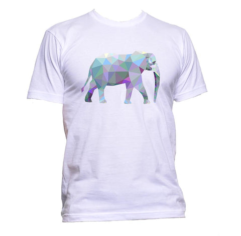 AppleWormDesign • Geometric Coloured Elephant gift - Men's T-Shirt •