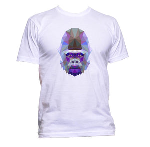 AppleWormDesign • Geometric Coloured Gorilla Head gift - Men's T-Shirt •