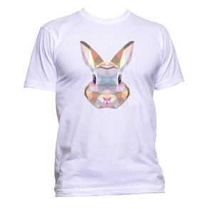 AppleWormDesign • Geometric Coloured Rabbit Head gift - Men's T-Shirt •