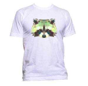 AppleWormDesign • Geometric Coloured Raccoon Head gift - Men's T-Shirt •